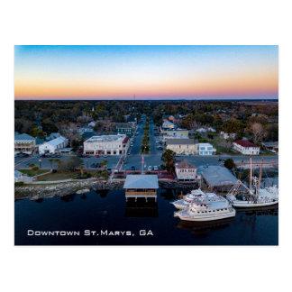 Sunset over St.Marys, GA Postcard