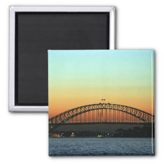 Sunset over Sydney Harbor Bridge, Australia Square Magnet