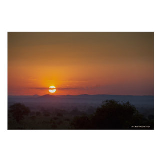 Sunset Over The African Landscape Poster