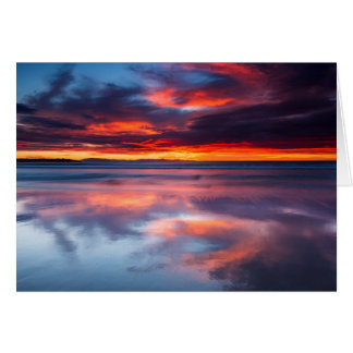 Sunset over the Channel Islands, CA Card