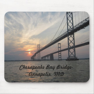 Sunset over the Chesapeake Bay Bridge Mouse Pad