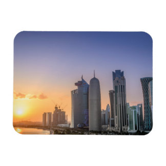 Sunset over the city of Doha, Qatar Magnet