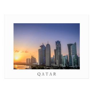 Sunset over the city of Doha, Qatar Postcard