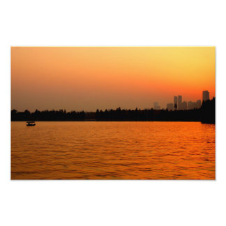 Sunset Over The East Lake Photo Print
