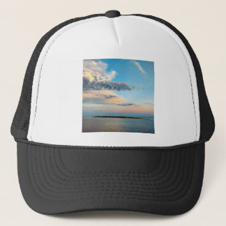Sunset over the Island Trucker Hat