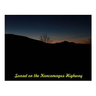 Sunset Over the Kancamagus Highway Postcard