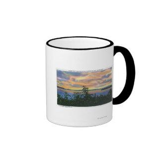 Sunset over the Lake, Adirondack Mts in Mugs
