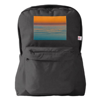Sunset over the lake Balaton, Hungary Backpack