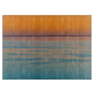 Sunset over the lake Balaton, Hungary Cutting Board