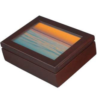 Sunset over the lake Balaton, Hungary Keepsake Box
