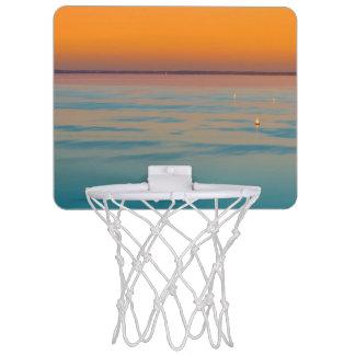 Sunset over the lake Balaton, Hungary Mini Basketball Hoop