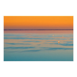 Sunset over the lake Balaton, Hungary Stationery