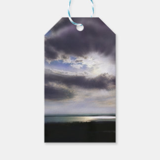 Sunset over the lake gift tags