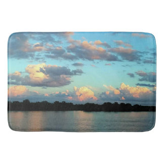 Sunset over the Mississippi River Bath Mat