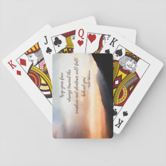 Sunset over the Mountains Playing Cards