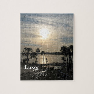 Sunset over the Nile at Luxor (Jigsaw Puzzle) Jigsaw Puzzle