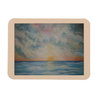 Sunset over the Ocean Kitchen magnet