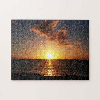 Sunset Over The Ocean Puzzle