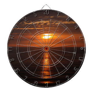 Sunset Over the Pacific Dartboard