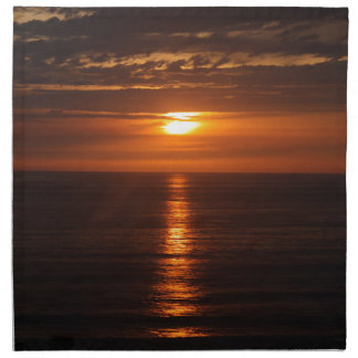 Sunset Over the Pacific Napkin