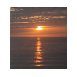 Sunset Over the Pacific Notepad