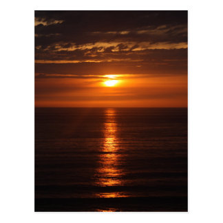 Sunset Over the Pacific Postcard