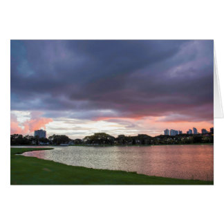 Sunset Over The Park Card