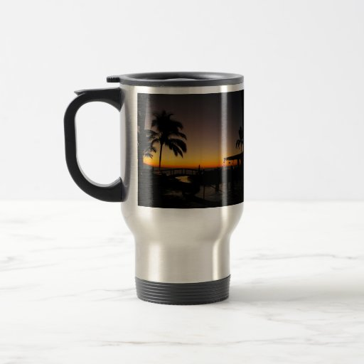 Sunset Over the Resort Mugs