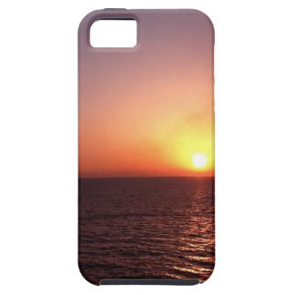 Sunset over the sea iPhone 5 case