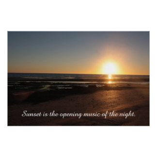 Sunset over the Sea of Cortez Poster