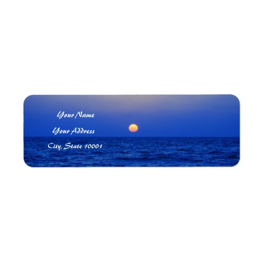 Sunset over the Sea Return Address Label
