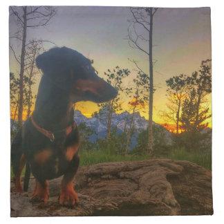 Sunset over the Tetons Napkin