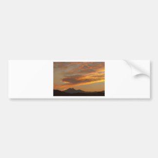Sunset  over the Twin Peaks Bumper Sticker