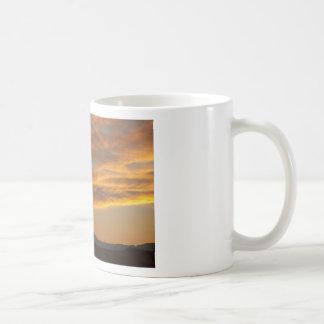 Sunset  over the Twin Peaks Coffee Mugs