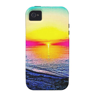 Sunset Over The Water Vibe iPhone 4 Cover