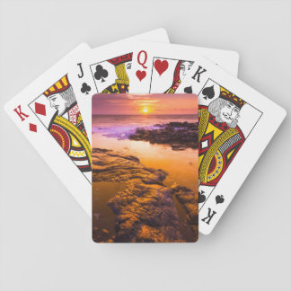 Sunset over tide pools, Hawaii Playing Cards