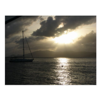 Sunset over Tortola Postcard