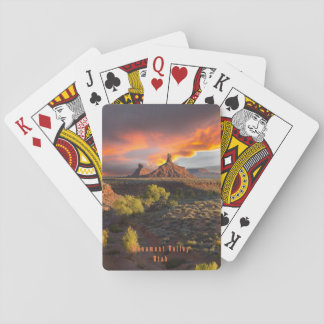 Sunset over Valley of the Gods Playing Cards