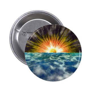 Sunset Over Water 6 Cm Round Badge