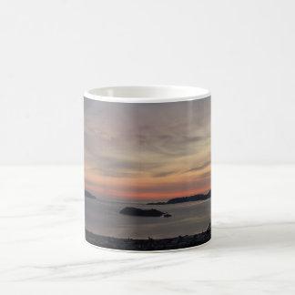 Sunset Over Wellington Harbour Coffee Mug