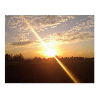 Sunset over Wiesbaden and Mainz Postcard