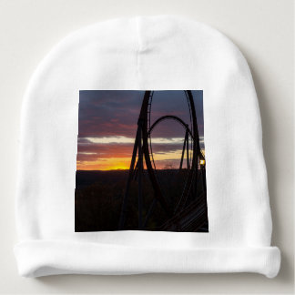 Sunset Over Wildfire Baby Beanie