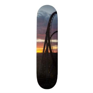 Sunset Over Wildfire Custom Skate Board