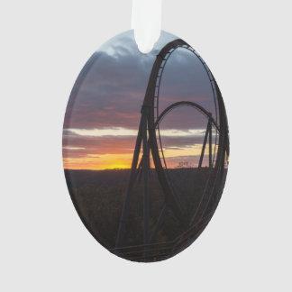Sunset Over Wildfire Ornament