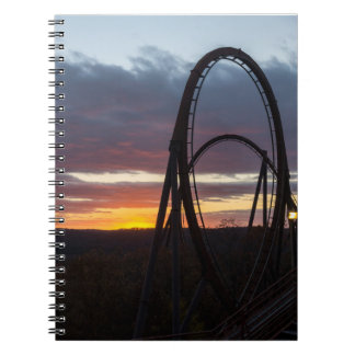 Sunset Over Wildfire Spiral Notebook
