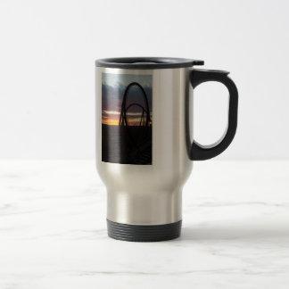 Sunset Over Wildfire Travel Mug