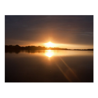 Sunset over Zambezi River - Postcard