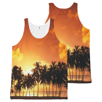 Sunset Palm Shirt All-Over Print Tank Top