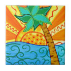 Sunset Palm Tile