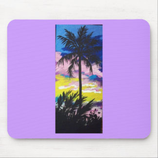SUNSET PALM TREE MOUSE PAD